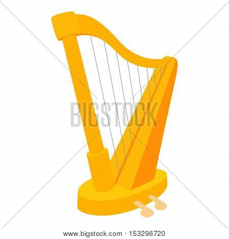 Harp icon. Cartoon illustration of harp vector icon for web