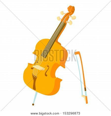 Violin icon. Cartoon illustration of violin vector icon for web