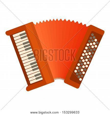 Accordion icon. Flat illustration of accordion vector icon for web