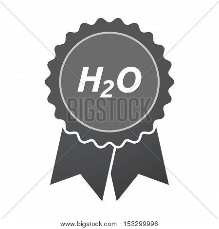 Isolated Badge Icon With    The Text H2O