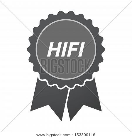 Isolated Badge Icon With    The Text Hifi