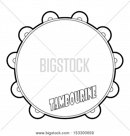 Tambourine icon. Outline illustration of tambourine vector icon for web