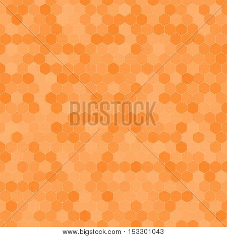 Abstract vector yellow background with hexagon shapes different opacity.