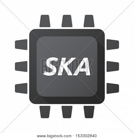 Isolated Central Processing Unit Icon With    The Text Ska