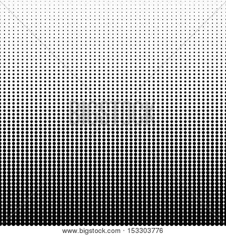 Seamless halftone effect pattern. Abstract dotted background. Halftone effect vector illustration. Black dots on white background. Halftone effect pattern.