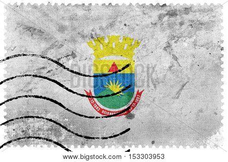 Flag Of Belo Horizonte, Minas Gerais, Brazil, Old Postage Stamp