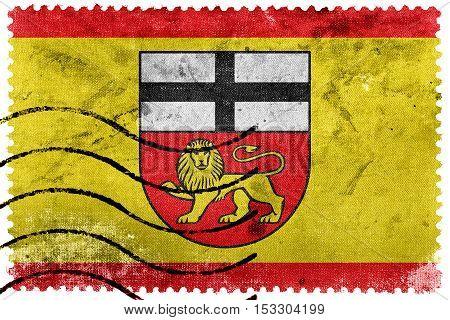 Flag Of Bonn, Germany, Old Postage Stamp