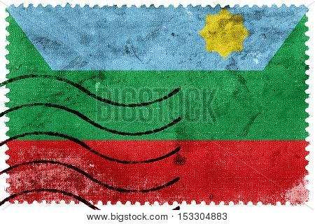 Flag Of Chachapoyas, Peru, Old Postage Stamp