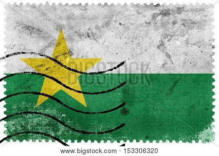 Flag Of Forsyth County, North Carolina, Usa, Old Postage Stamp