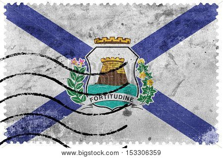 Flag Of Fortaleza, Ceara, Brazil, Old Postage Stamp