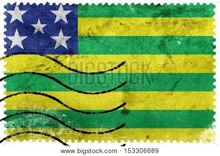 Flag Of Goias State, Brazil, Old Postage Stamp