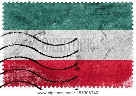Flag Of Gorzow Wielkopolski, Poland, Old Postage Stamp