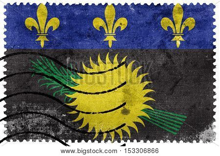 Flag Of Guadeloupe (local), France, Old Postage Stamp