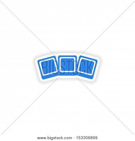 icon sticker realistic design on paper photo