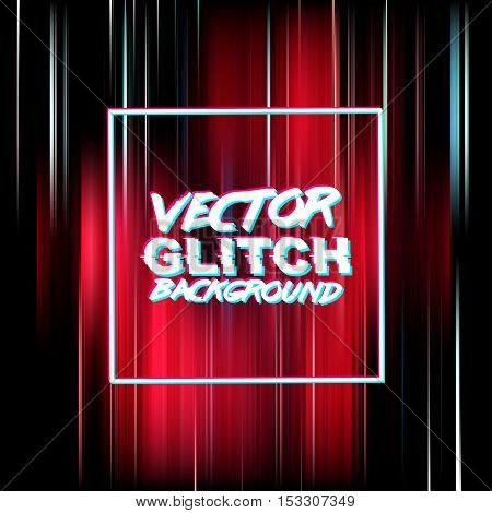 Vector glitch background. Digital image data distortion. Corrupted image vector file. Colorful abstract background for your designs. Glitch effect background ready for your design. Vector EPS10.