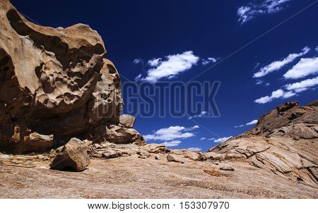 Bektau-Ata is an unusual amazing natural monument that is a meeting place of two different landscapes - granite mountain is surrounded by a flat steppe.