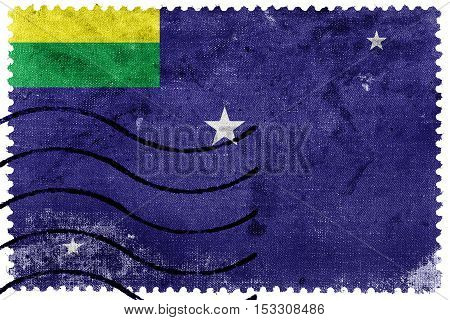 Flag Of Lages, Santa Catarina State, Brazil, Old Postage Stamp