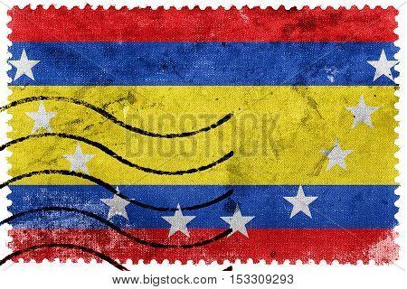 Flag Of Loja Province, Ecuador, Old Postage Stamp