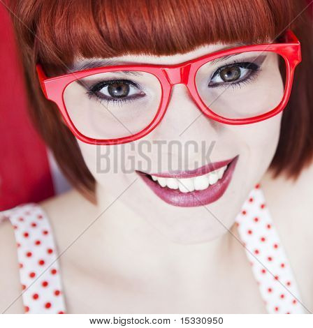 Cheerful red haired girl