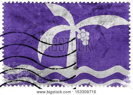 Flag Of Macae, Brazil, Old Postage Stamp