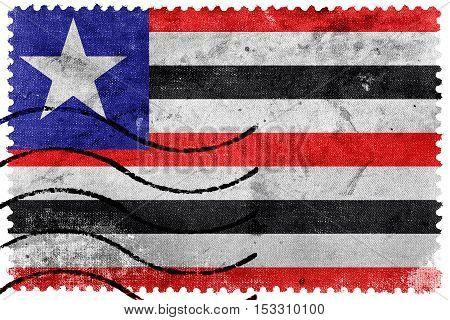 Flag Of Maranhao State, Brazil, Old Postage Stamp