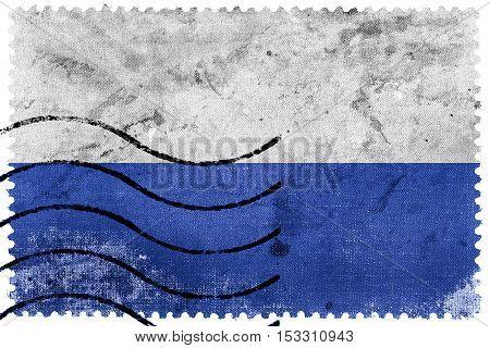 Flag Of Mlada Boleslav, Czechia, Old Postage Stamp