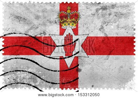 Flag Of Northern Ireland, Uk, Old Postage Stamp