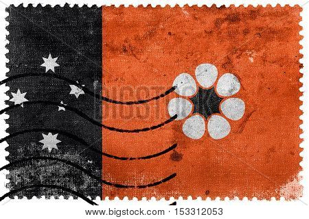Flag Of Northern Territory, Australia, Old Postage Stamp
