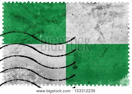 Flag Of Ocana, Colombia, Old Postage Stamp