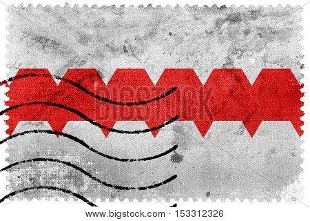 Flag Of Omsk, Omsk Oblast, Russia, Old Postage Stamp