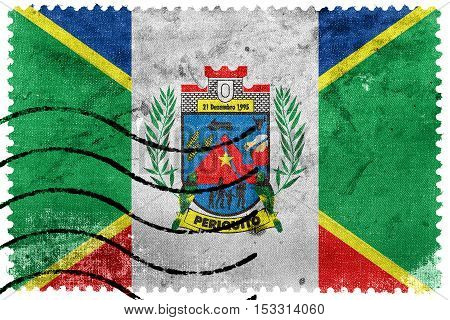 Flag Of Periquito, Brazil, Old Postage Stamp