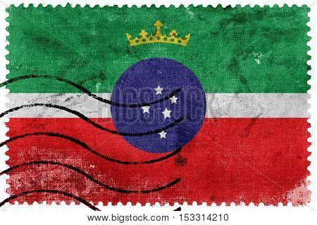 Flag Of Pindamonhangaba, Sao Paulo, Brazil, Old Postage Stamp