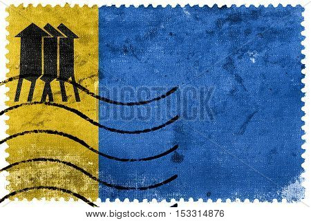 Flag Of Porto Velho, Rondonia, Brazil, Old Postage Stamp