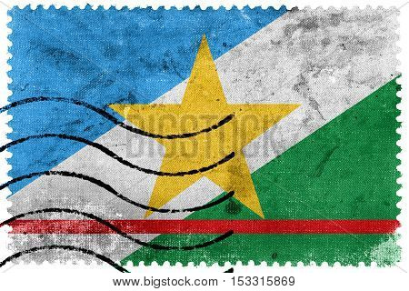 Flag Of Roraima State, Brazil, Old Postage Stamp