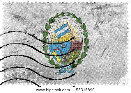 Flag Of Rosario, Santa Fe, Argentina, Old Postage Stamp