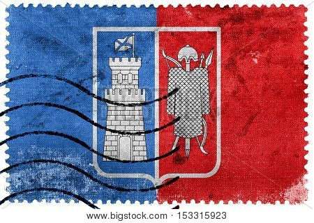Flag Of Rostov On Don, Russia, Old Postage Stamp