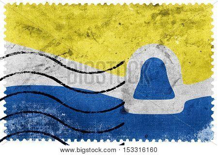 Flag Of San Luis Obispo, California, Usa, Old Postage Stamp