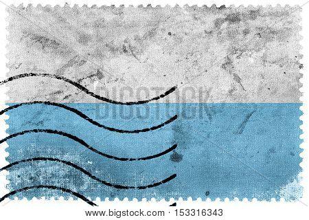 Flag Of Santa Marta, Colombia, Old Postage Stamp