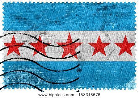 Flag Of Sapucaia, Brazil, Old Postage Stamp