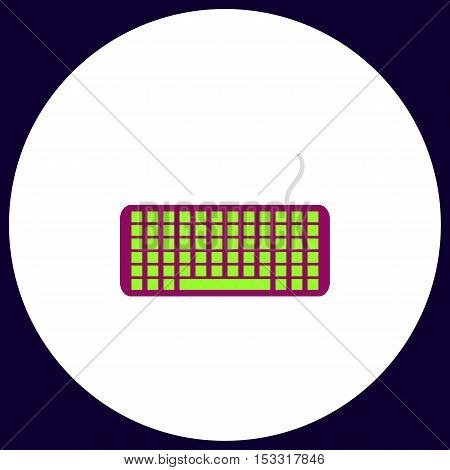Keyboard Simple vector button. Illustration symbol. Color flat icon