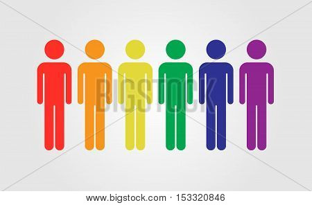 LGBT people vector icon LGBT rainbow flag