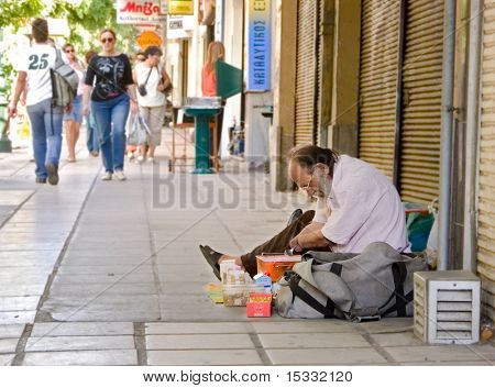 Handicapped street vendor