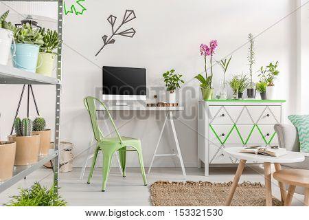 Bright Home Office Area