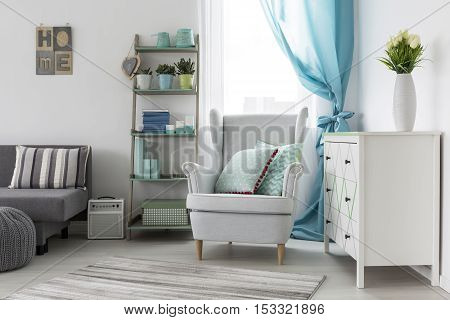 Room Interior Designed In Bright Tones
