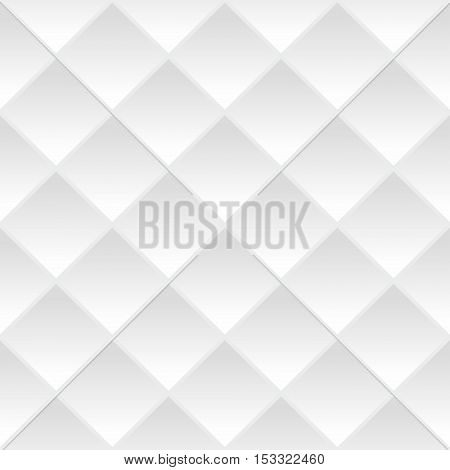 White geometric seamless background. Seamless vector background
