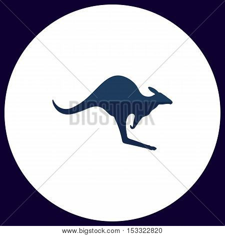 Kangaroo Simple vector button. Illustration symbol. Color flat icon
