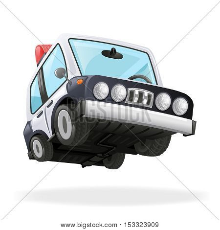 Police Car Icon Law Icon Isolated Realistic 3d Vector Illustration
