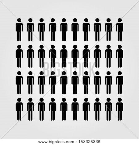 People vector icon, society vector icon, vector illustration