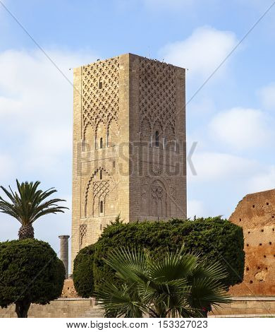 Hassan Tower in Rabat, capital of Morocco, Africa