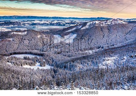 Mountain Peaks At Sunrise At Winter, Tatras, Poland